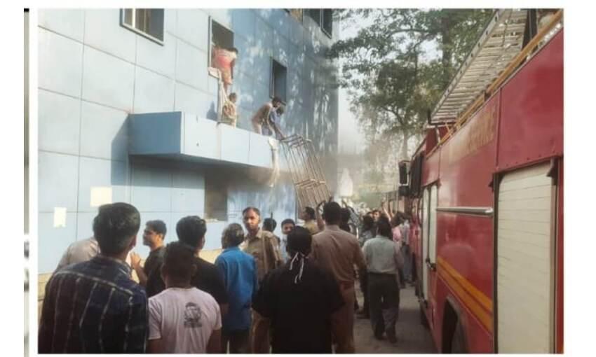 कानपुर के कार्डियोलॉजी अस्पताल में आगजनी, 150 मरीजों को किया रेस्क्यू, 2 की मौत