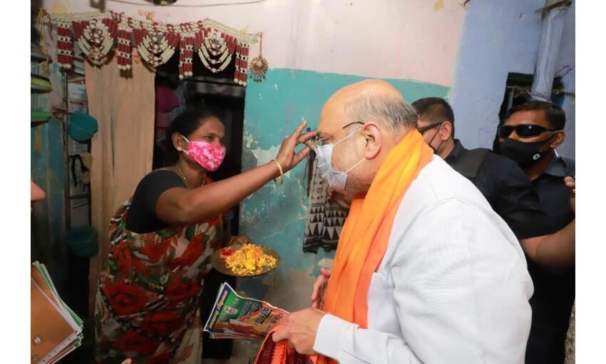 बंगाल में अमित शाह और जेपी नड्डा ने किया डोर टू डोर कैंपेन, कहा - बनेगी भाजपा सरकार