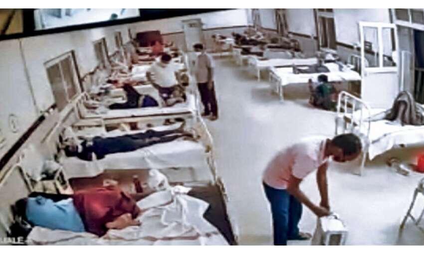 वार्डबॉय ने कोरोना मरीज की हटाई ऑक्सीजन, 9 घंटे तड़प - तड़प कर हुई मौत
