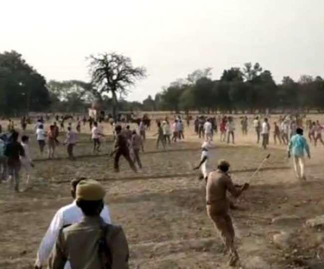 हरदोई: मतपेटी में पानी डालकर ग्रामीणों ने की फायरिंग, पुलिस की जवाबी कार्यवाई में 4 घायल