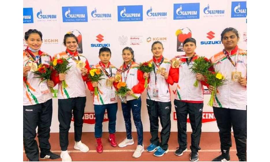 एआईबीए यूथ विश्व मुक्केबाजी चैंपियनशिप में महिला बॉक्सर्स ने जीते 7 स्वर्ण पदक