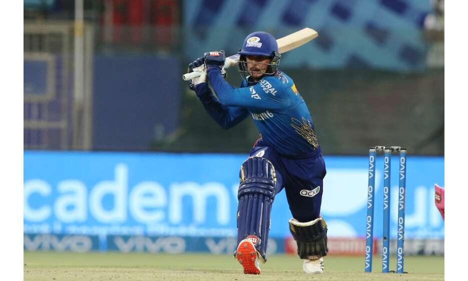 मुंबई इंडियंस ने राजस्थान रॉयल्स को 7 विकेट से हराया, डिकॉक ने खेली तूफानी पारी
