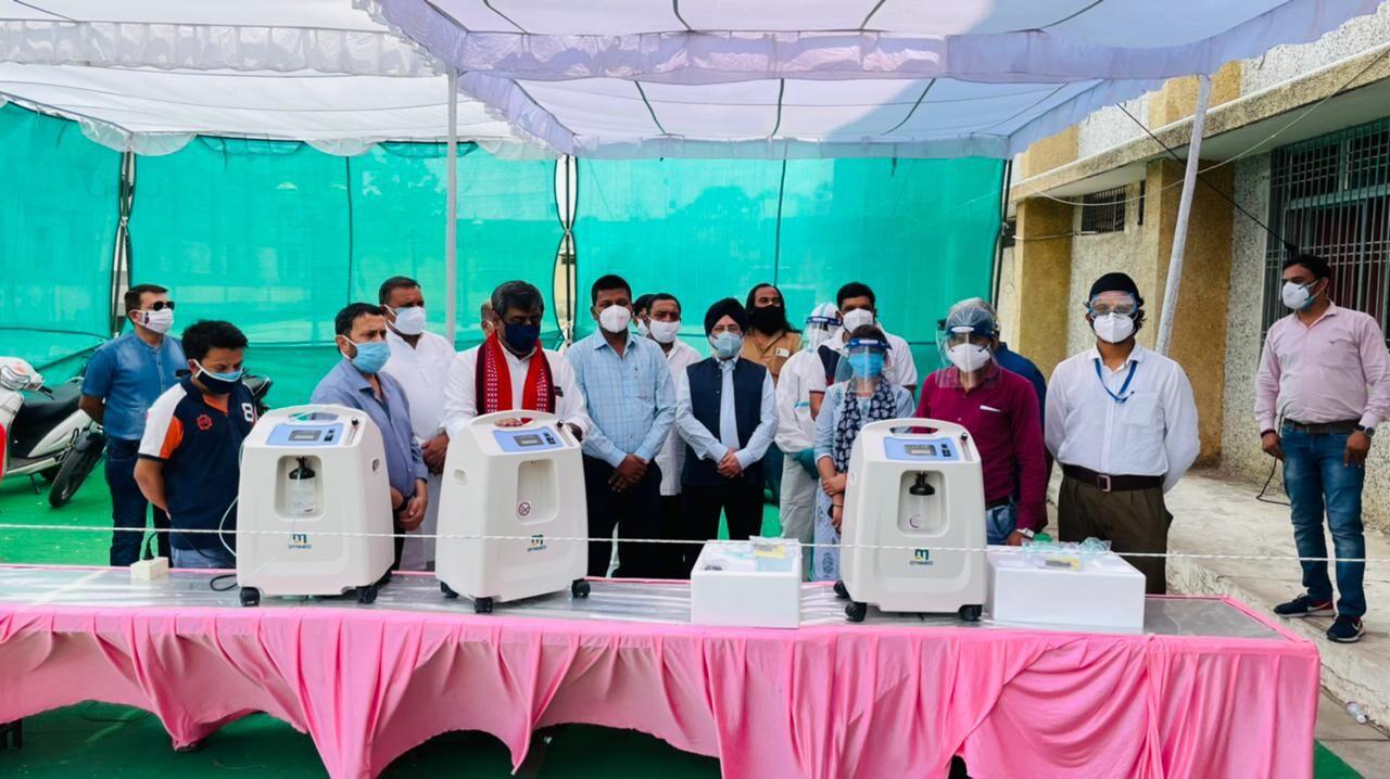 सेवा भारती कोविड केयर सेंटर में इलाज के लिए आयीं 3 ऑक्सीजन कंसंट्रेटर मशीन