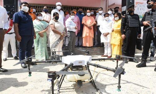 सीएम ने ड्रोन से गंगा में निगरानी व्यवस्था का किया शुभारंभ