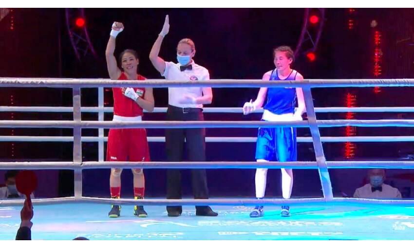 मैरी कॉम और साक्षी ने एशियन बॉक्सिंग चैम्पियनशिप के फाइनल में बनाई जगह
