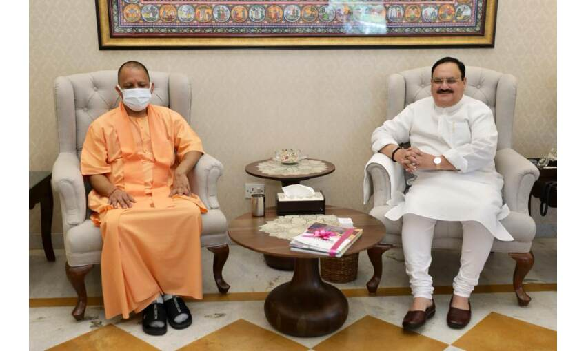 मुख्यमंत्री योगी आदित्यनाथ ने भाजपा राष्ट्रीय अध्यक्ष से की मुलाकात, कैबिनेट विस्तार पर चर्चा