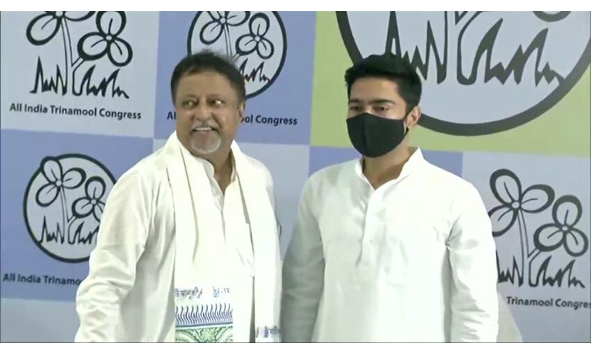 मुकुल रॉय ने चार साल बाद तृणमूल में की वापसी, अभिषेक बनर्जी ने दिलाई सदस्यता