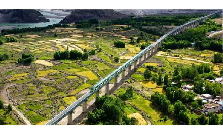 चीन की नई चाल : भारतीय सीमा के पास तिब्बत में शुरू की बुलेट ट्रेन