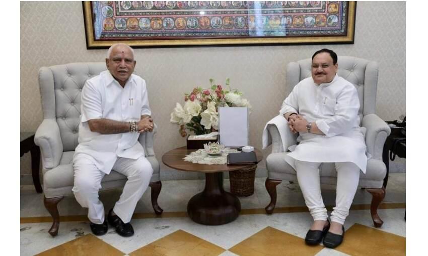 कर्नाटक के सीएम येदियुरप्पा ने भाजपा अध्यक्ष नड्डा से की मुलाकात, इस्तीफे की अटकलें