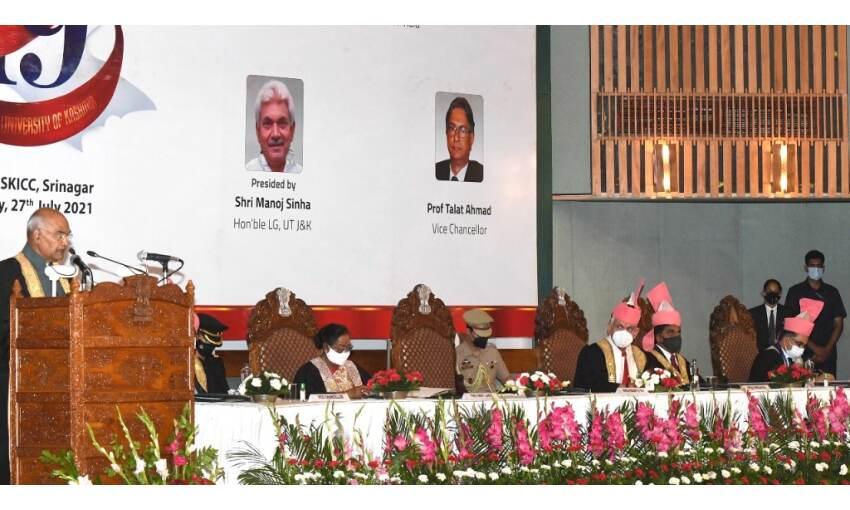 कश्मीर भारत के सिर का ताज है और इसे अपना सही स्थान मिलकर ही रहेगा: राष्ट्रपति