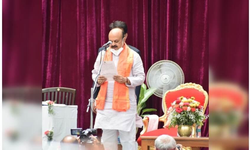 बासवराव सोनप्पा बोम्मई ने ली मुख्यमंत्री पद की शपथ, कर्नाटक के 30 वें  सीएम बनें