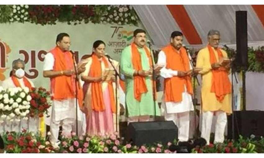 भूपेन्द्र पटेल की मंत्रिपरिषद में सभी नए चेहरों को मिली जगह, 24 मंत्रियों ने ली शपथ