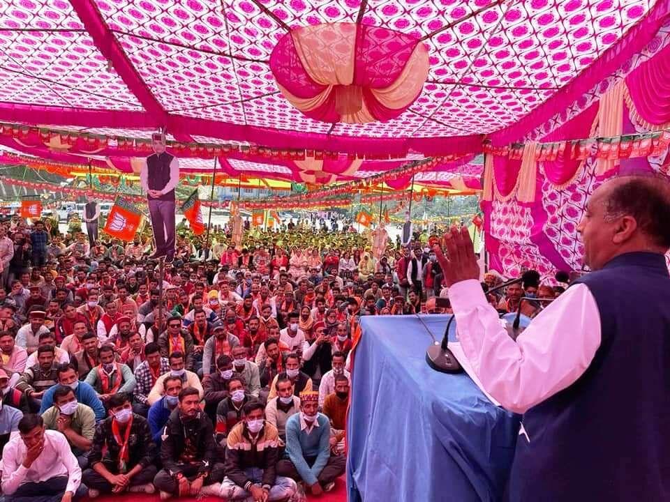 कांग्रेस नेताओं की रैली में संवेदनाएं कम राजनीति ज्यादा : जयराम ठाकुर