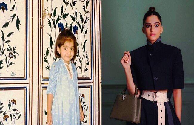 सोनम कपूर ने बचपन का फोटो शेयर कर दिखाया अपना फैशन सेन्स