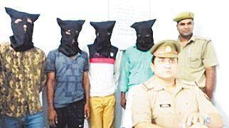 जीआरपी ने पकड़े चार चोर