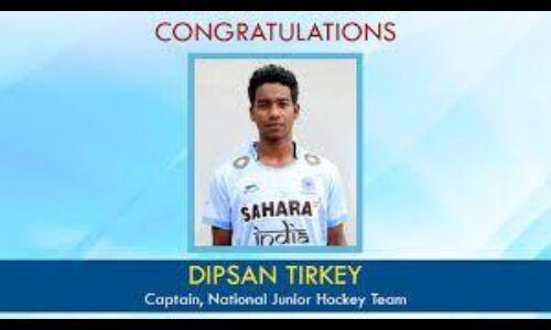 भारतीय अंडर-23 हॉकी टीम के कप्तान बने दिपसान टिर्की