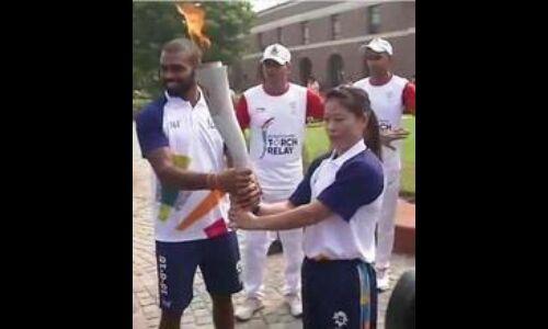 18वें एशियन खेल : मशाल रिले में मैरी कॉम,श्रीजेश सहित शामिल हुए 30 एथलीट