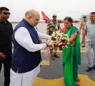 जीत का मंत्र देने जयपुर पहुंचे अमित शाह
