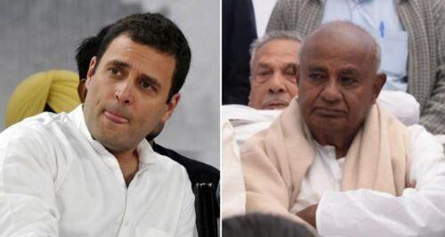 राहुल गांधी बतौर प्रधानमंत्री पद के उम्मीदवार हमें मंजूर: एचडी देवगौड़ा