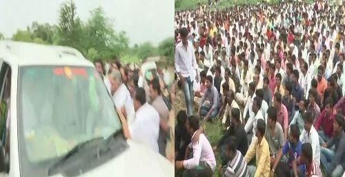 शिंदे के अंतिम संस्कार में गए सांसद चंद्रकांत खैरे के विरोध में की नारेबाजी