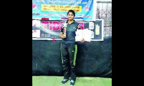 कृतिका मध्यप्रदेश राज्य टेबिल टेनिस टूर्नामेंट में उपविजेता बनी