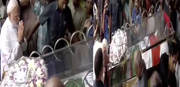 पीएम मोदी ने करुणानिधि को दी श्रद्धांजलि