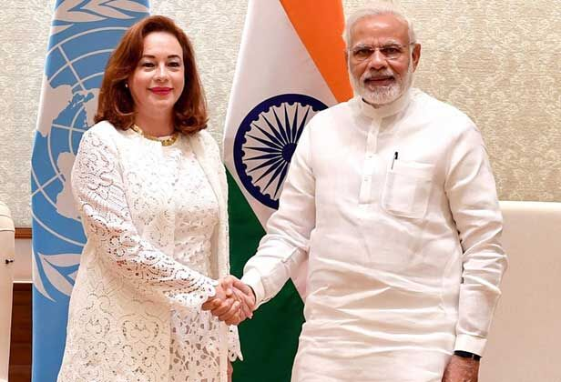 प्रधानमंत्री मोदी से मिलीं संयुक्त राष्ट्र महासभा की निर्वाचित अध्यक्ष