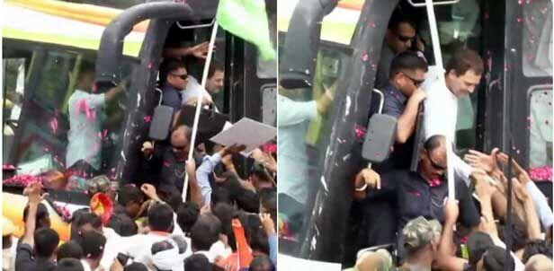 रोड शो : राहुल ने आखिरकार गहलोत-पायलट को किया एक
