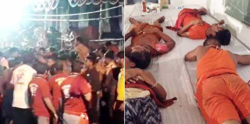 मुजफ्फरपुर में दो बार मची भगदड़, 25 से ज्यादा कांवड़िए घायल