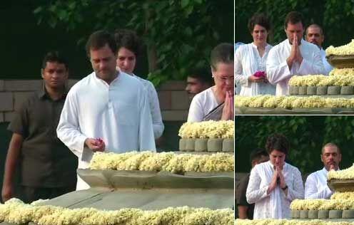 राजीव गांधी की 74वीं जयंती पर सोनिया और राहुल सहित कांग्रेस के बड़े नेताओं ने दी श्रद्धांजलि