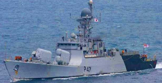 भारतीय नौसेना का मिसाइल लड़ाकू युद्धपोत म्यांमार पहुंचा