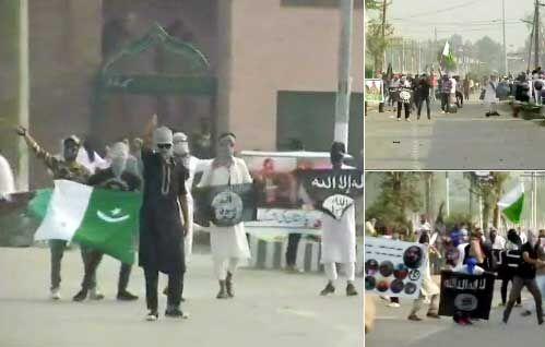 श्रीनगर में ईद की नमाज के बाद सुरक्षाबलों पर पथराव, पाक और आईएसआईएस के झंडे लहराए, देखे वीडियो