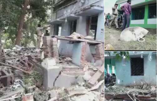 मायापुर में हुये बम विस्फोट में उड़ा तृणमूल कार्यालय, दो की मौत