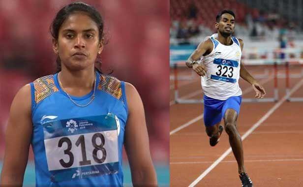 Asian Games 2018 : धरुण अय्यासामी और सुधा सिंह ने जीता रजत