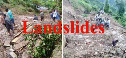उत्तराखंड में भूस्खलन से हुई तीन लोगों की मौत