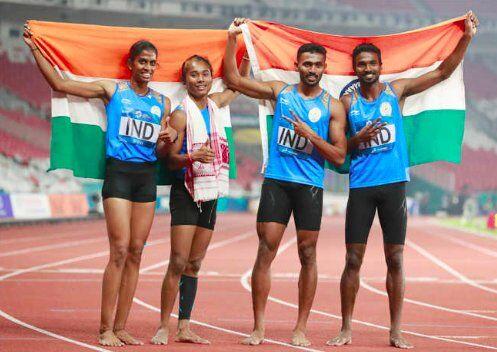 Asian Games 2018 : 4 गुना 400 कंपाउंड रिले में भारत ने जीता रजत