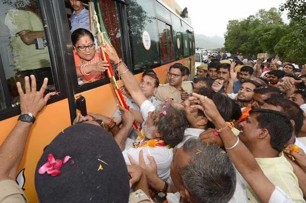 मुख्यमंत्री की गौरव यात्रा को लेकर बाड़मेर में तनाव