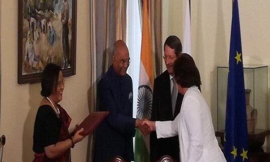 भारत और साइप्रस के बीच हुए अहम समझौतों पर हस्ताक्षर
