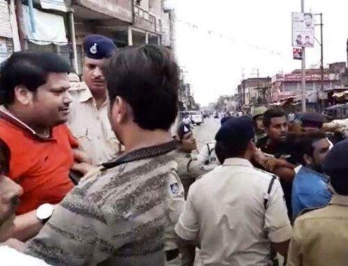 भिंड : बंद के दौरान रैली निकाल रहे विधायक पुत्र को पुलिस ने लिया हिरासत में
