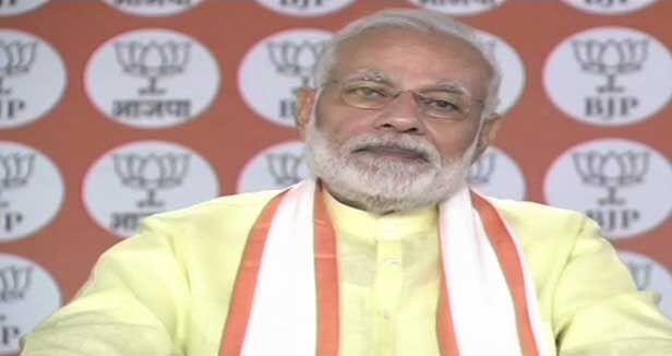 कार्यकर्ताओं के परिश्रम की वजह से ही बीजेपी इस पड़ाव पर : प्रधानमंत्री मोदी