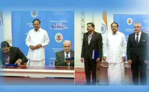 भारत-रोमानिया के बीच समझौतों पर हस्ताक्षर