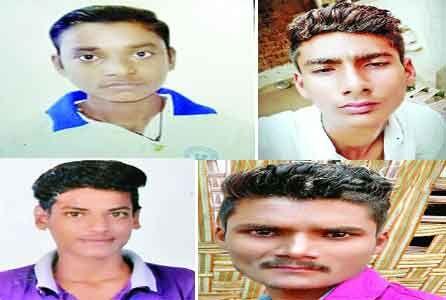 गणेश विसर्जन करने गए तीन भाइयों सहित चार किशोरों की खदान में डूबने से मौत