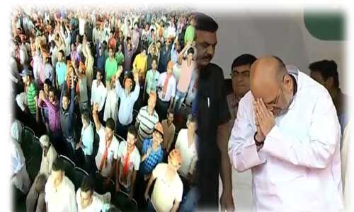 अमित शाह ने फूंका चुनावी बिगुल, पूर्वांचलवासियों से की दिल्ली की सातों लोस सीटों पर विजय की अपील