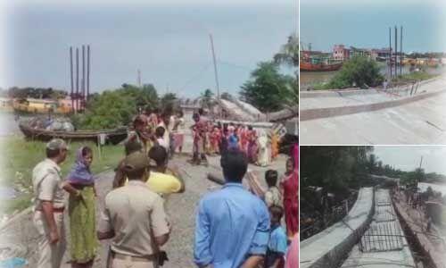 काकद्वीप में निर्माणाधीन पुल गिरा, कोई हताहत नहीं