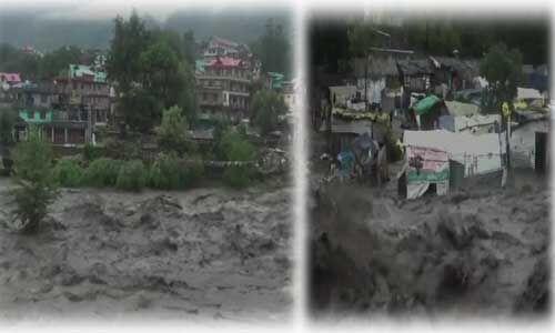कुल्लू-मनाली में बादल फटा आई बाढ़, व्यास नदी उफान पर