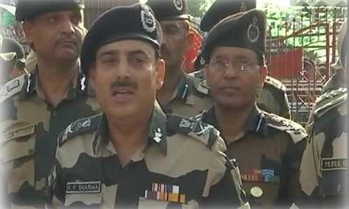 बीएसएफ ने पाकिस्तानी सेना को दिया मुंहतोड जवाब : डीजी के के शर्मा