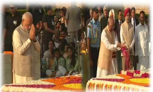 राष्ट्रपति, पीएम और कांग्रेस सहित कई नेताओं ने महात्मा गांधी को दी श्रद्धांजलि