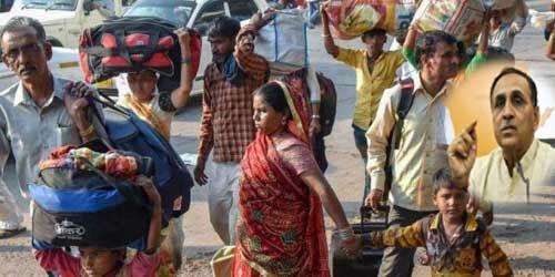 गुजरात सरकार ने नार्थ इंडियन लोगों से लौटने की अपील, 400 के लगभग हुए आरेस्ट