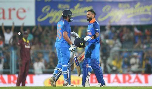 INDvsWI : कोहली और रोहित की तूफानी बल्लेबाजी ने भारत को दिलाई शानदार जीत