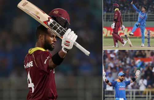 INDvsWI : वनडे का दूसरा मैच हुआ टाई, सीरीज में भारत 1-0 से आगे